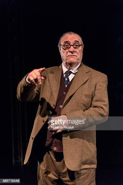 Cast of Rising Image Productions performs 'An Evening with CS Lewis' on stage during Greenside Venues Launch for Edinburgh Festival Fringe at...