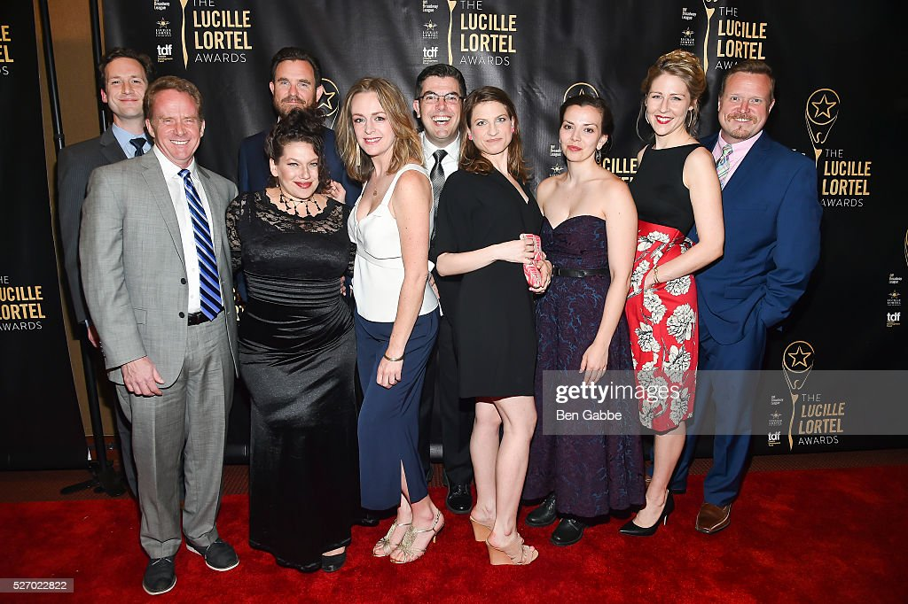 Cast of Sense and Sensibility attend the 2016 Lucille Lortel Awards on May 01, 2016 in New York, New York.