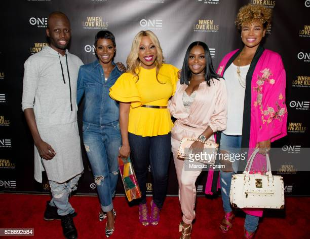 Cast of Sister Circle DJ Q Rashan Ali Kiana Dancie Quad WebbLunceford and Syleena Johsnon attend the 'When Love Kills The Falicia Blakely Story'...
