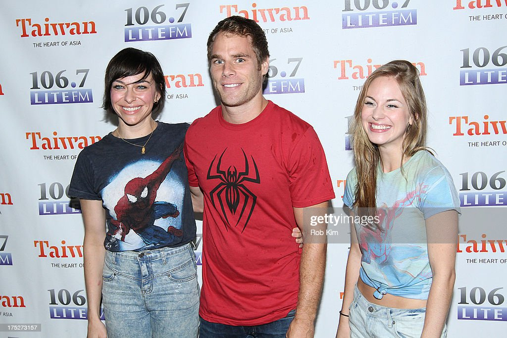 Cast of 'Spiderman' Jodi McFadden, Matt Wilkas and Kristen Martin attend 106.7 LITE FM's Broadway in Bryant Park 2013 at Bryant Park on August 1, 2013 in New York City.