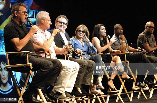 Cast of 'Star Trek The Next Generation' participate in the 11th Annual Official Star Trek Convention day 3 held at the Rio Hotel Casino on August 11...