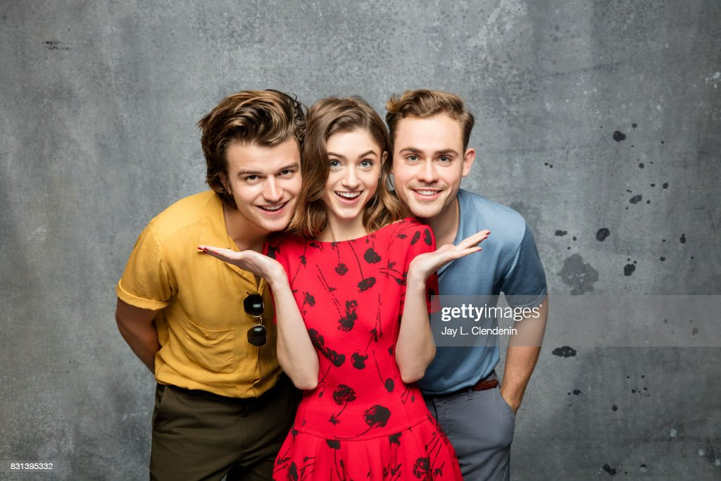 Cast of 'Stranger Things' (Joe Keery, Natalia Dyer, and Dacre Montgomery) are photographed in the L.A. Times photo studio at Comic-Con 2017, in San Diego, CA on July 22, 2017.