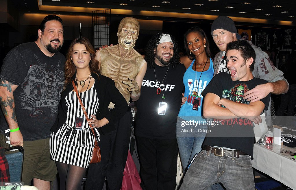 Cast of SyFy's 'FaceOff' attend Los Angeles' Days Of The Dead Convention Day Two held at Los Angeles Convention Center on April 6, 2013 in Los Angeles, California.