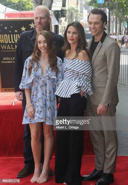 Cast of 'The Americans Noah Emmerich Holly Taylor Keri Russell and Matthew Rhys at Keri Russell 's Star Ceremony held on the Hollywood Walk of Fame...