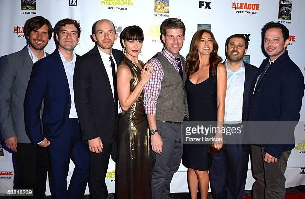 Cast of The League actors Jon Ljoie Paul Scheer Katie Aselton show creators Jackie Marcus Schaffer and Jeff Schaffer Stephen Rannazzisi Nick Kroll...