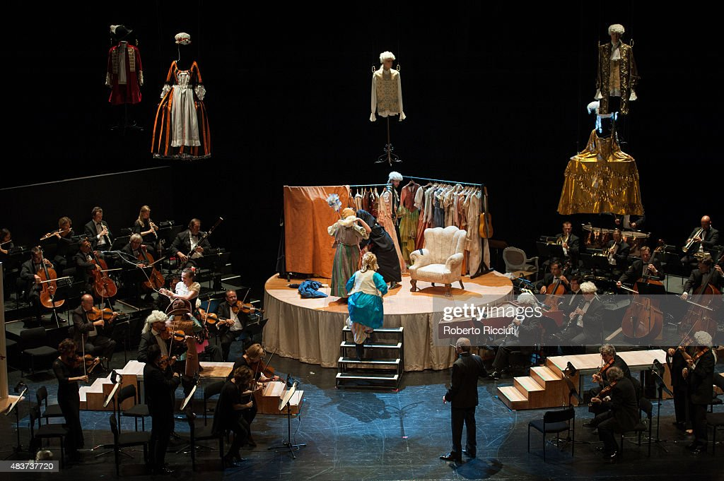 Cast of 'The Marriage of Figaro' perform on stage during the Edinburgh International Festival at Festival Theatre on August 12 2015 in Edinburgh...