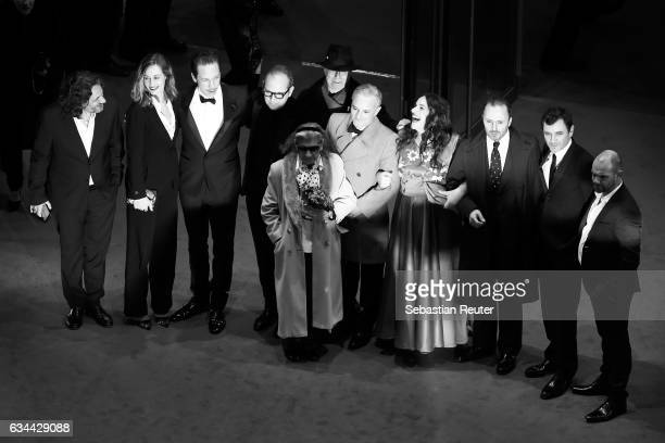 Cast of the movie 'Django' and Festival Director Dieter Kosslick attend the 'Django' premiere during the 67th Berlinale International Film Festival...
