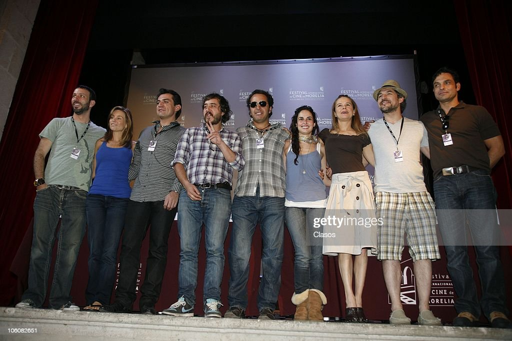 Cast of the movie La Otra Familia pose during the 8th Morelia International Film Festival on October 23, 2010 in Morelia, Mexico.