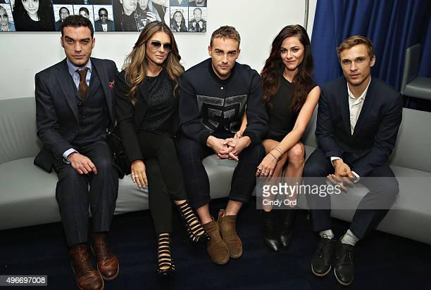 Cast of 'The Royals' Jake Maskall Alexandra Park Elizabeth Hurley William Moseley and Tom Austen visit the SiriusXM Studios on November 11 2015 in...