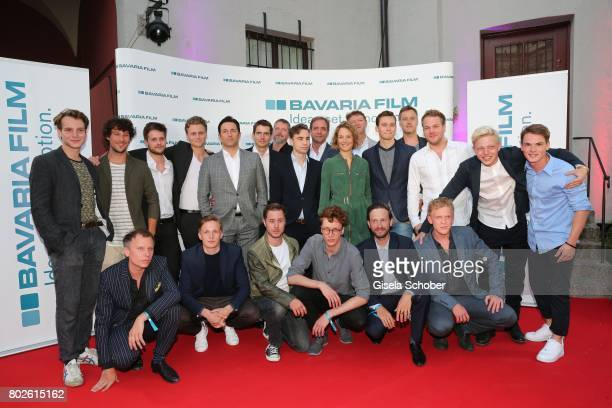 Cast of the series 'Das Boot' Leonard Scheicher Klaus Steinbacher Philip Birnstiel Rafael Gareisen Oliver Vogel Moritz Polter Director Andreas...