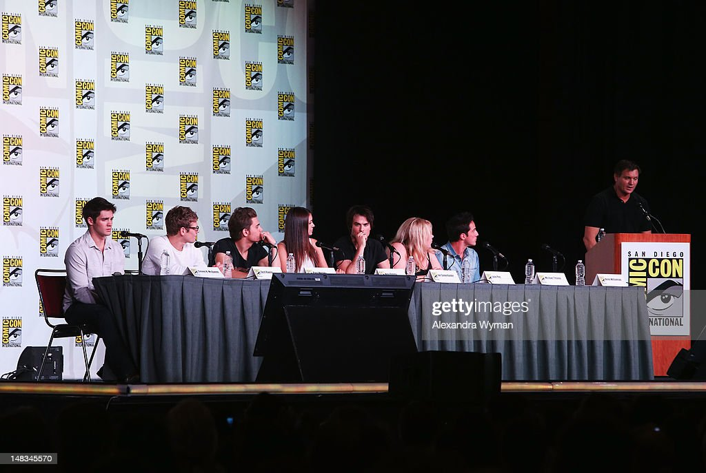 Cast of The Vampire Diaries speak at 'The Vampire Diaries' screening during Comic-Con International 2012 at San Diego Convention Center on July 14, 2012 in San Diego, California.