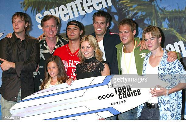 Cast of the WB's '7th Heaven' during The 2002 Teen Choice Awards Press Room at Universal Amphitheater in Universal City California United States