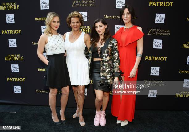 Cast of 'Transparent' actress Zackary Drucker actress Alexandra Billings actress Trace Lysette and writer Our Lady J attend as SAKS FIFTH AVENUE...