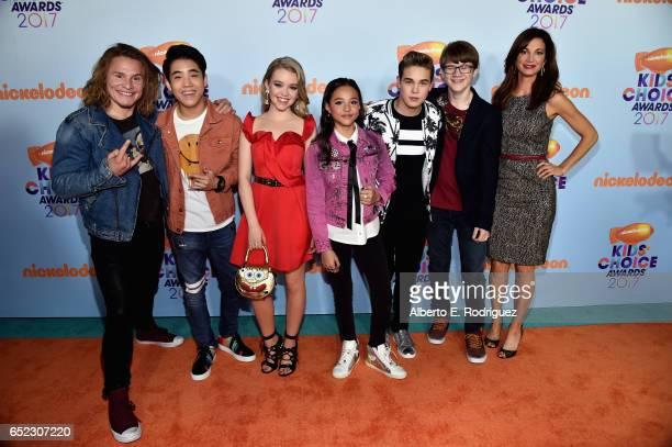 Cast of TV Show School of Rock Actors Tony Cavalero Lance Lim Jade Pettyjohn Breanna Yde Ricardo Hurtado Aidan Miner and Jama Williamson at...