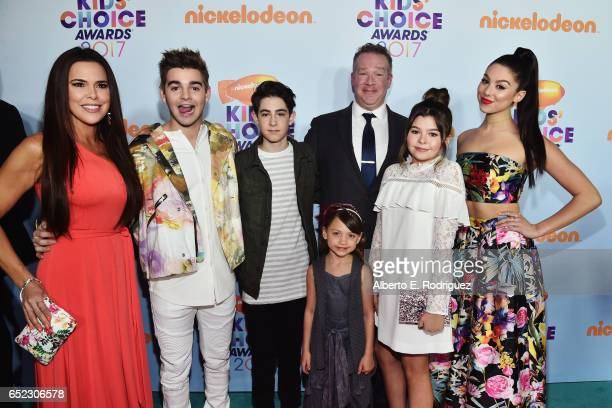 Cast of TV Show The Thundermans Actors Rosa Blasi Jack Griffo Diego Velazquez Maya Le Clark Chris Tallman Addison Riecke and Kira Kosarin at...