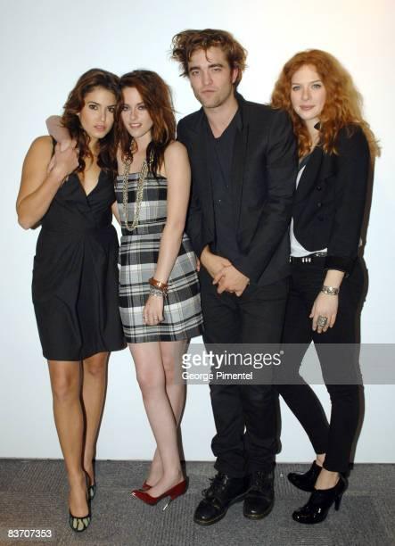 Cast of Twilight Nikki Reed Kristen Stewart Robert Pattinson and Rachelle Lefevre visit the MuchMusic Headquarters for a special Live@Much interview...