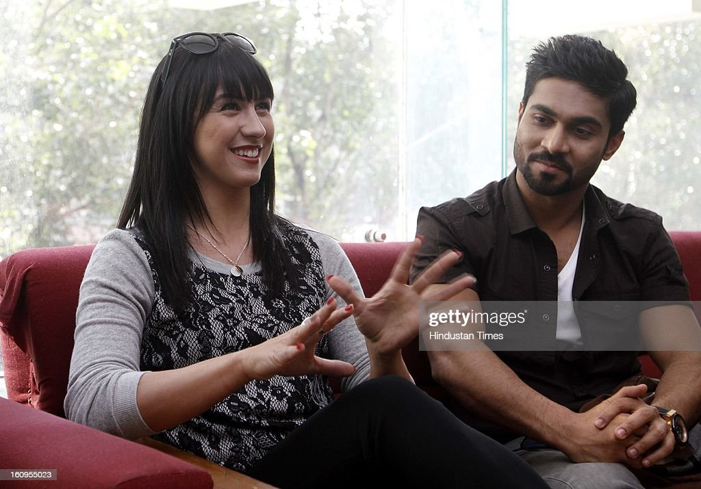 Cast of upcoming movie Lauren Gottlieb and Salman during interview at HT House on February 6, 2013 in New Delhi, India. Anybody Can Dance is an upcoming Bollywood dance film and the first of its kind in India to release in 3D film. It is also releasing in Tamil titled as Aadalam Boys Chinnatha Dance.