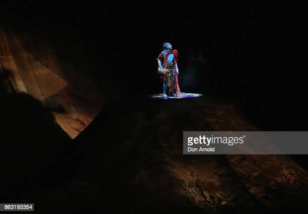 Cast perform during a performance of TORUK The First Flight by Cirque du Soleil at Qudos Bank Arena on October 19 2017 in Sydney Australia
