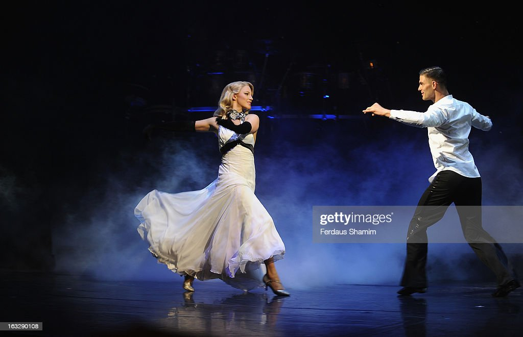 Cast perform during a photocall for 'Burn The Floor' at Shaftesbury Theatre on March 7, 2013 in London, England.
