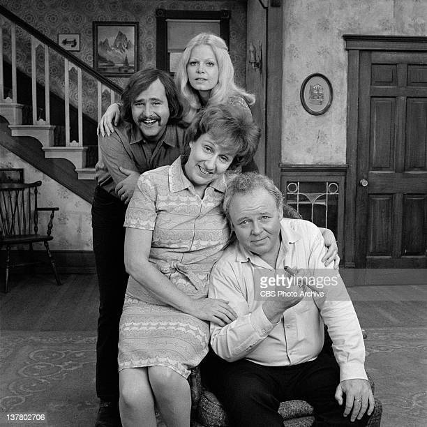 FAMILY cast photo featuring Sally Struthers Rob Reiner Jean Stapleton and Carroll O'Connor Negative dated October 24 1972