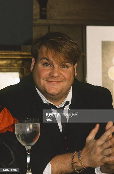 LIVE Cast Press Conference Pictured Chris Farley on September 18 1990 Photo by Alan Singer/NBC/NBCU Photo Bank