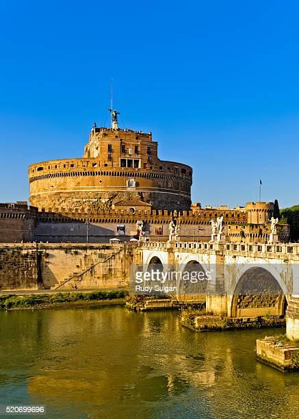 Castel Sant'Angelo and Bridge in Rome, Italy