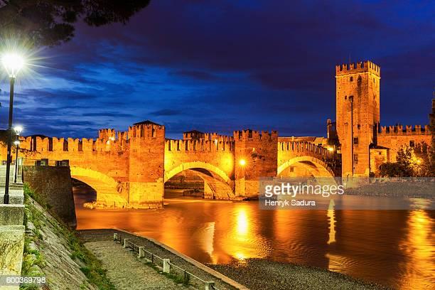 Castel Vecchio Bridge in Verona