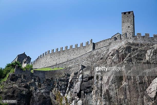 Castelgrande, eines Bellinzonas Schlösser, Unesco World Heritage in der Schweiz