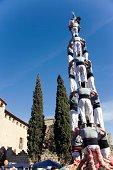 Castellers in Sant Cugat del Valles, Barcelona, Spain