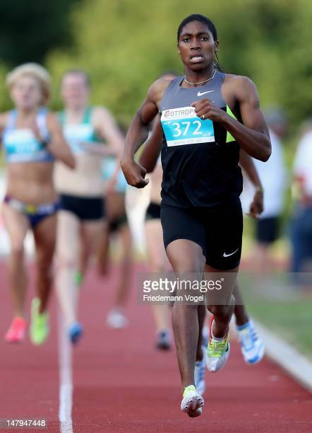 Caster Semenya of South Africa runs to first place in the women's 800 metres final during Bottropgala on July 6 2012 in Bottrop Germany