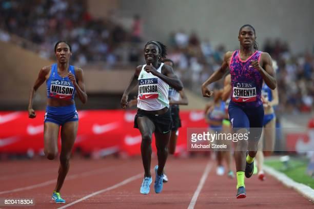 Caster Semenya of South Africa wins the women's 800m during the IAAF Diamond League Meeting Herculis on July 21 2017 in Monaco Monaco
