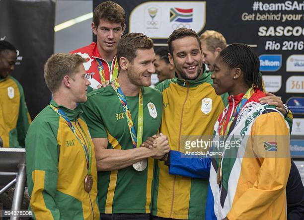 Caster Semenya who won gold medal women's 800m in Rio 2016 Olympic Games Chad le Clos who won two silver medals in Men's 100m butterfly stroke...