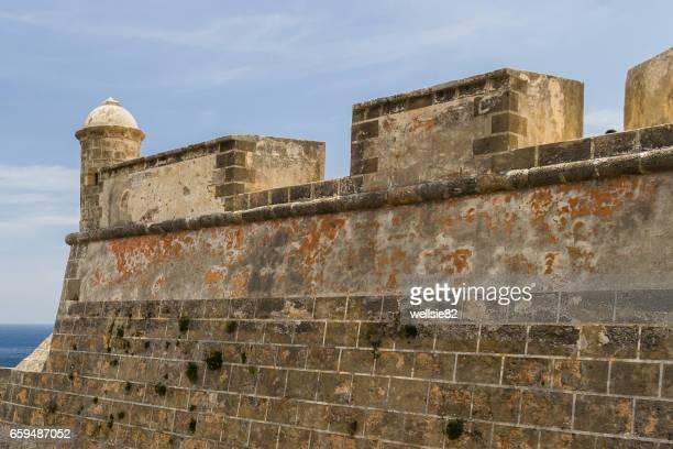 Castillo de San Pedro de la Roc walls