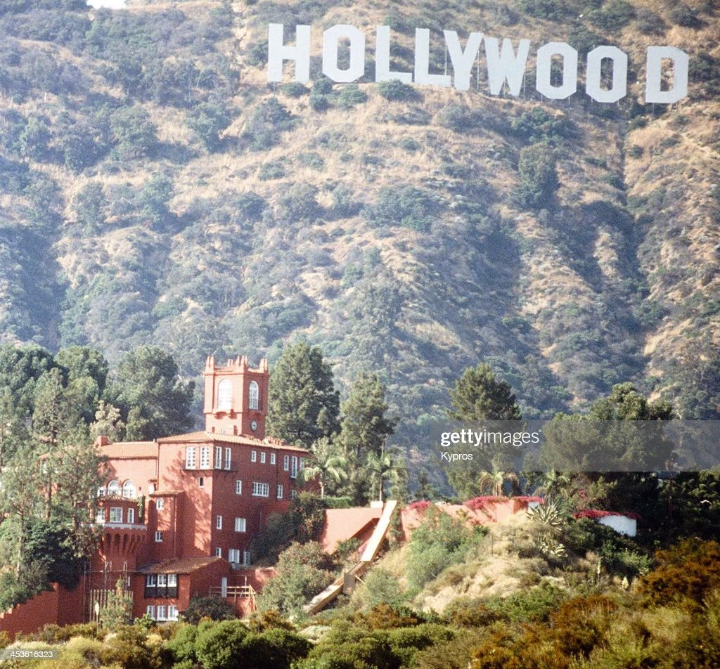 Castillo del Lago the home of pop star Madonna in the Hollywood Hills California circa 1990