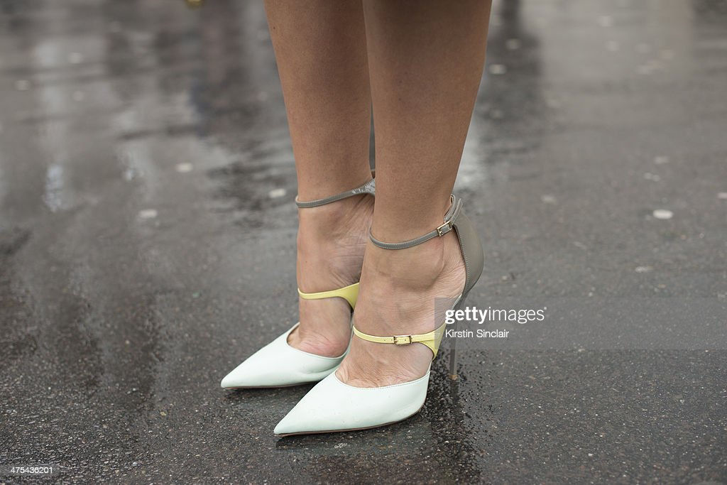 Casting Agent, Fashion Consultant Natalie Joos wears Jimmy Choo shoes on day 3 of Paris Collections: Women on February 27, 2014 in Paris, France.
