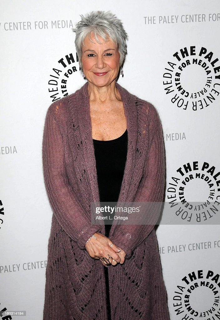 Casting director Andrea Romano arrives for The Paley Center for Media & Warner Bros. Home Entertainment Premiere of 'Batman: The Dark Knight Returns, Part 2' held at The Paley Center for Media on January 28, 2013 in Beverly Hills, California.