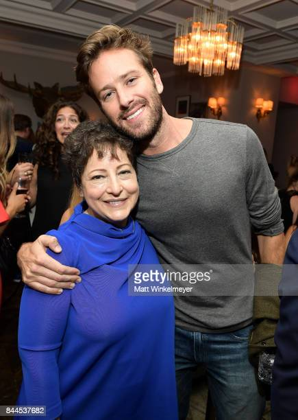 Casting director Deborah Aquila and actor Armie Hammer attend 'Stronger' premiere party hosted by GREY GOOSE vodka and Soho House on September 8 2017...