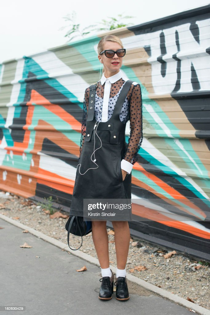 Casting director Natalie Joos wearing Chloe. on day 6 of Paris Fashion Week Spring/Summer 2014, Paris September 29, 2013 in Paris, France.