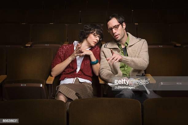 Casting directors choosing actors