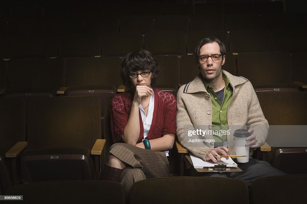 Casting directors sitting in theater