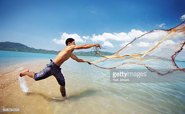 Casting his nets
