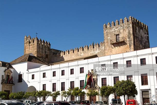 Castle and Ayuntiamiento Plaza del Cabildo village of Arcos de la Frontera Cadiz province Spain