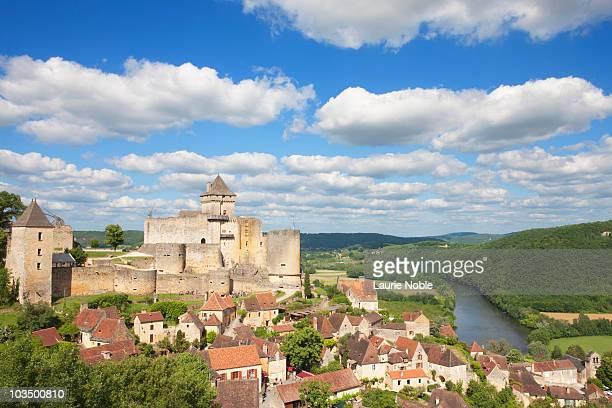 Castle and river Dordogne