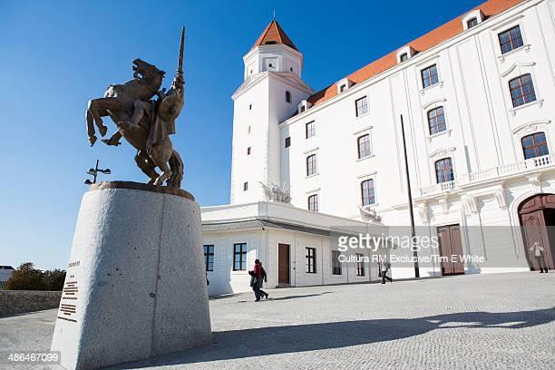 Castle and statue,  Bratislava, Slovakia
