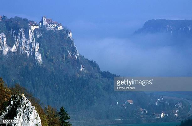 Castle atop mountains