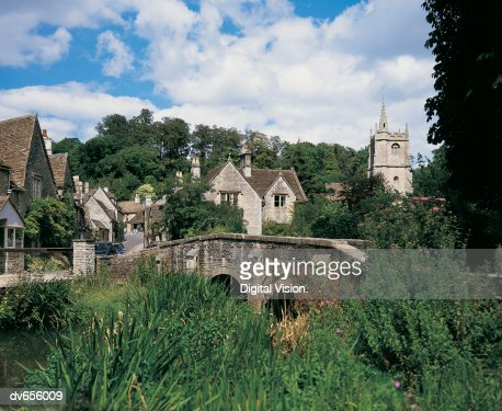 Castle Combe, Wiltshire, England : Stock Photo