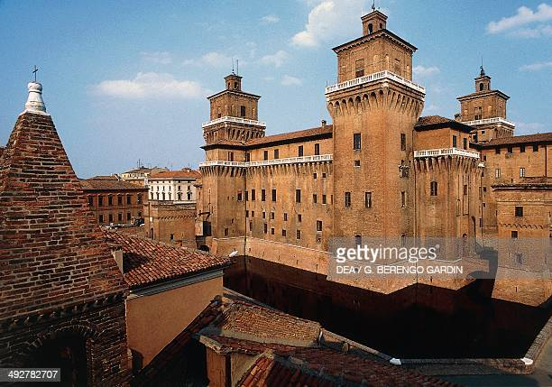 Castle Estense or castle of St Michele 14th century Ferrara EmiliaRomagna Italy