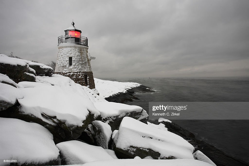 Castle Hill in snow : Stock Photo