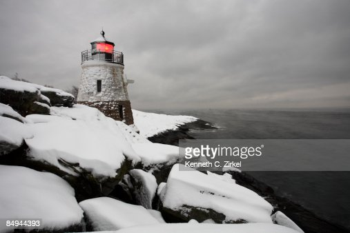 Castle Hill in snow : Stock Photo