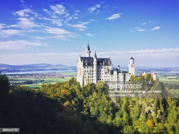 Castle Neuschwanstein Bavaria Alps Germany